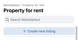 crearte new facebook rental listing